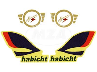 Aufklebersatz Habicht Rahmen und Tank im Original-Design