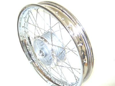 """Speichenrad Chrom 16"""" x 1,85 breite Felge"""