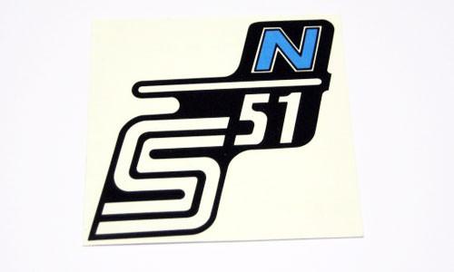 Wasserabziehbild Seitendeckel S51N einzeln