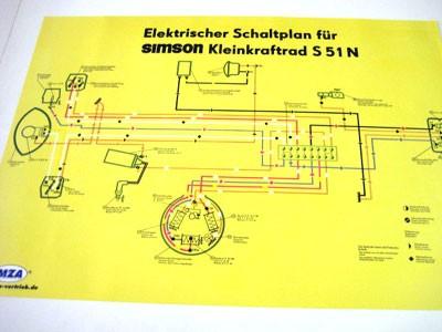 Schaltplan Farbposter S51 N