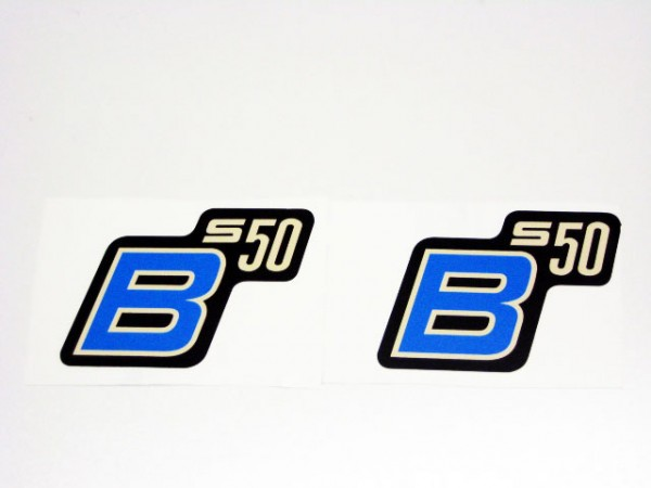 """Aufklebersatz """"S50 B"""" schwarz hellblau im Original Design"""