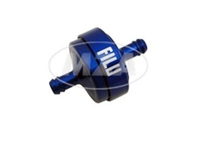 Benzinfilter FILU Alu blau Motorrad