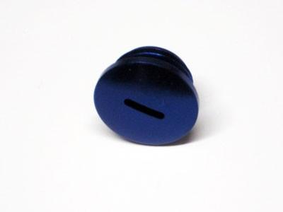 Verschlußschraube Alu blau f. Kupplungseinstellung
