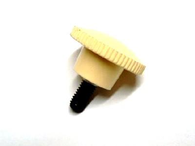 Rändelschraube M6 cremefarben mit Gummischeibe