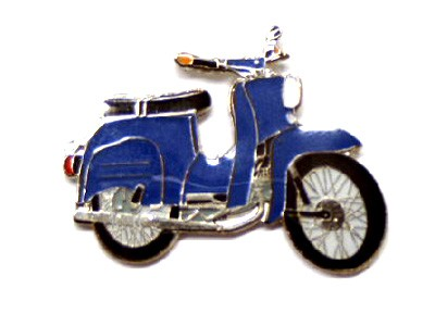 Pin Simson Schwalbe blau