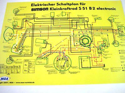 Schaltplan Farbposter S51 B2 | Schaltpläne | Elektronik | Simson ...