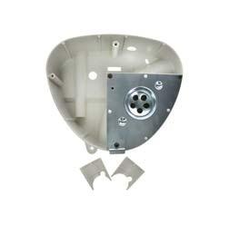 Gehäusemittelteil Weiß-Grau mit Abdeckplatte für Luftfiltereinsatz