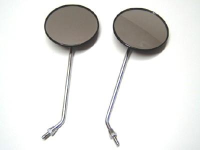 2 Spiegel rund 122 mm Stab verchromt im Satz