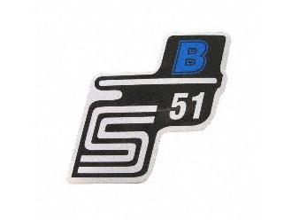 """Klebefolie Seitendeckel """"S51 B"""" blau"""