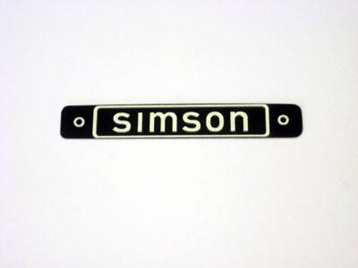 Hersteller Typschild Sitzbank SIMSON
