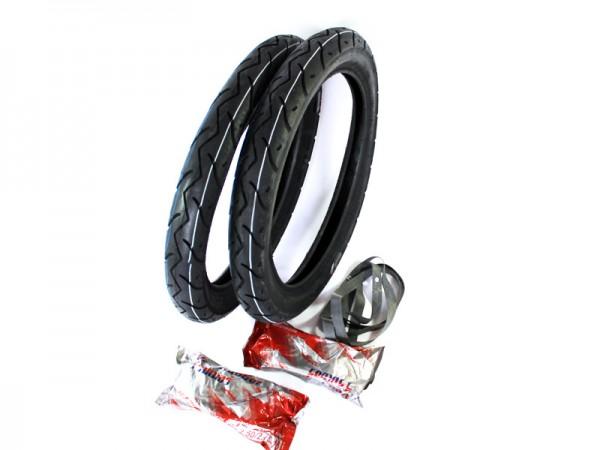 Slikreifensatz 2,75x16 Vee Rubber mit Schlauch und Felgenband