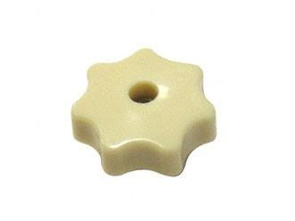 Sterngriffmutter M6 - elfenbein mit Loch