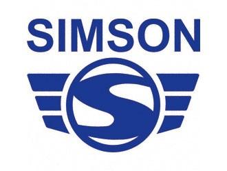 Klebefolie SIMSON-LOGO blau 300mm breit