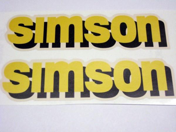 Aufklebersatz SIMSON Tank S51C gelb/schwarz im Original Design