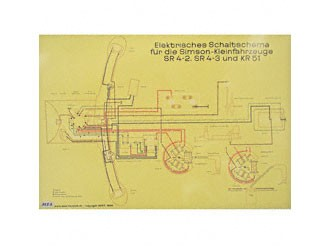 Schaltplan Farbposter (72x50cm) SR4-2, SR4-3, KR51