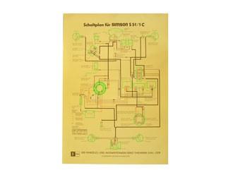 Schaltplan Farbposter S51/1C 40x60cm