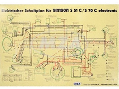 Schaltplan Farbposter S51 C 6V Elektronik