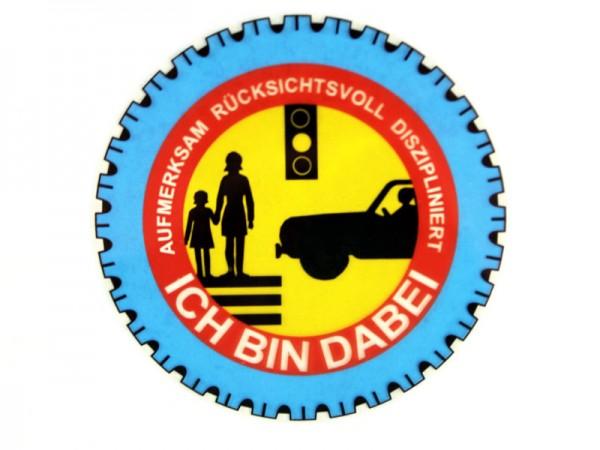 """Scheibeninnenaufkleber """"Sicherheit im Straßenverkehr"""""""