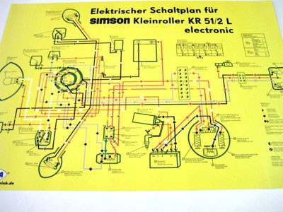 Schaltplan Farbposter KR51/2 L | Schaltpläne | Elektronik | Simson ...
