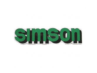 Klebefolie Simson-Tank grün