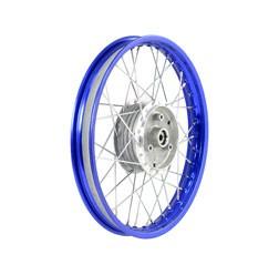 Speichenrad 1,5x16 blaue Alufelge, Edelstahlspeichen