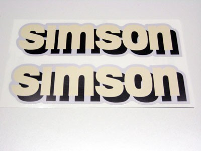 Aufklebersatz SIMSON Tank S51 weiß/schwarz im Original Design