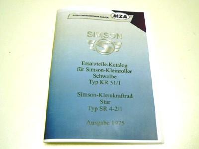 Simson Ersatzteile Katalog Schwalbe KR51/1 & Star SR4-2/1