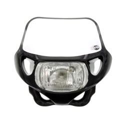 Lampenmaske Acerbis mit Scheinwerfer schwarz