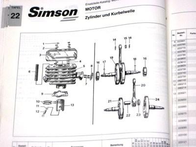 Simson Ersatzteile Katalog Mokick S51/1-S70/1, S53-S83