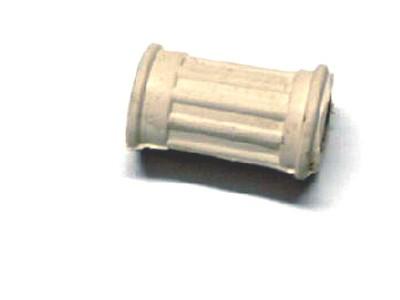 Schalthebelgummi oval weiß