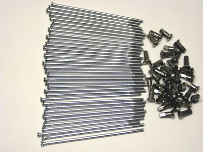Speichensatz Chrom MZ mit Nippel M4x121 mm