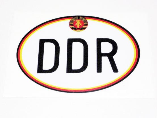 Länderaufkleber DDR Moped groß