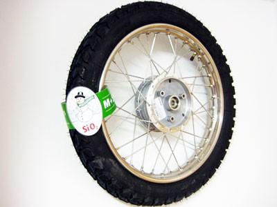 Winter Komplettrad Edelstahl 1,5 x 16 K42 M+S hinten