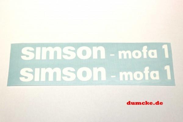 Aufklebersatz SIMSON - Mofa 1 im Original Design
