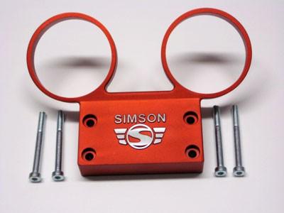 Armaturenträger für Tacho und DZM orange