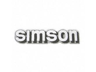 Klebefolie Simson-Tank weiß/schwarz/silber