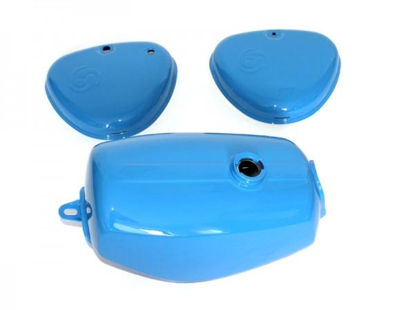 "Blechsatz S51 ""hellblau"" pulverbeschichtet"