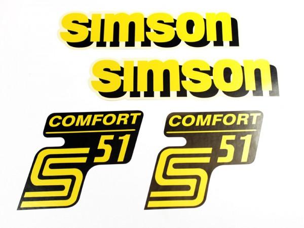 Dekorsatz S51 Comfort gelb/schwarz